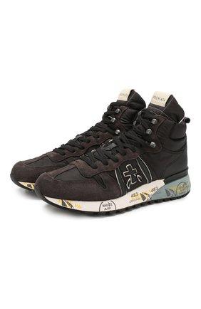 Мужские комбинированные кроссовки jeff PREMIATA коричневого цвета, арт. JEFF/VAR4306 | Фото 1