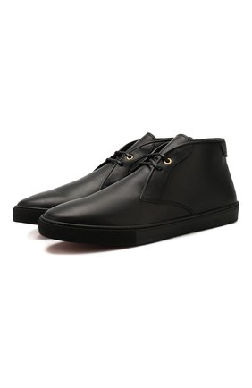 Мужские кожаные ботинки ERMENEGILDO ZEGNA черного цвета, арт. A4316X-LHELB | Фото 1