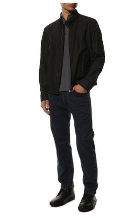 Мужские кожаные ботинки ERMENEGILDO ZEGNA черного цвета, арт. A4316X-LHELB | Фото 2
