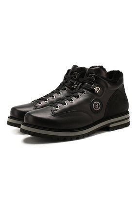 Мужские кожаные ботинки BOGNER черного цвета, арт. 193-C113/C0URCHEVEL M 4A | Фото 1