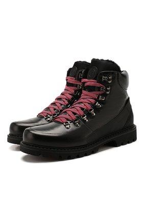 Мужские кожаные ботинки BOGNER черного цвета, арт. 193-8583/HELSINKI 1E | Фото 1