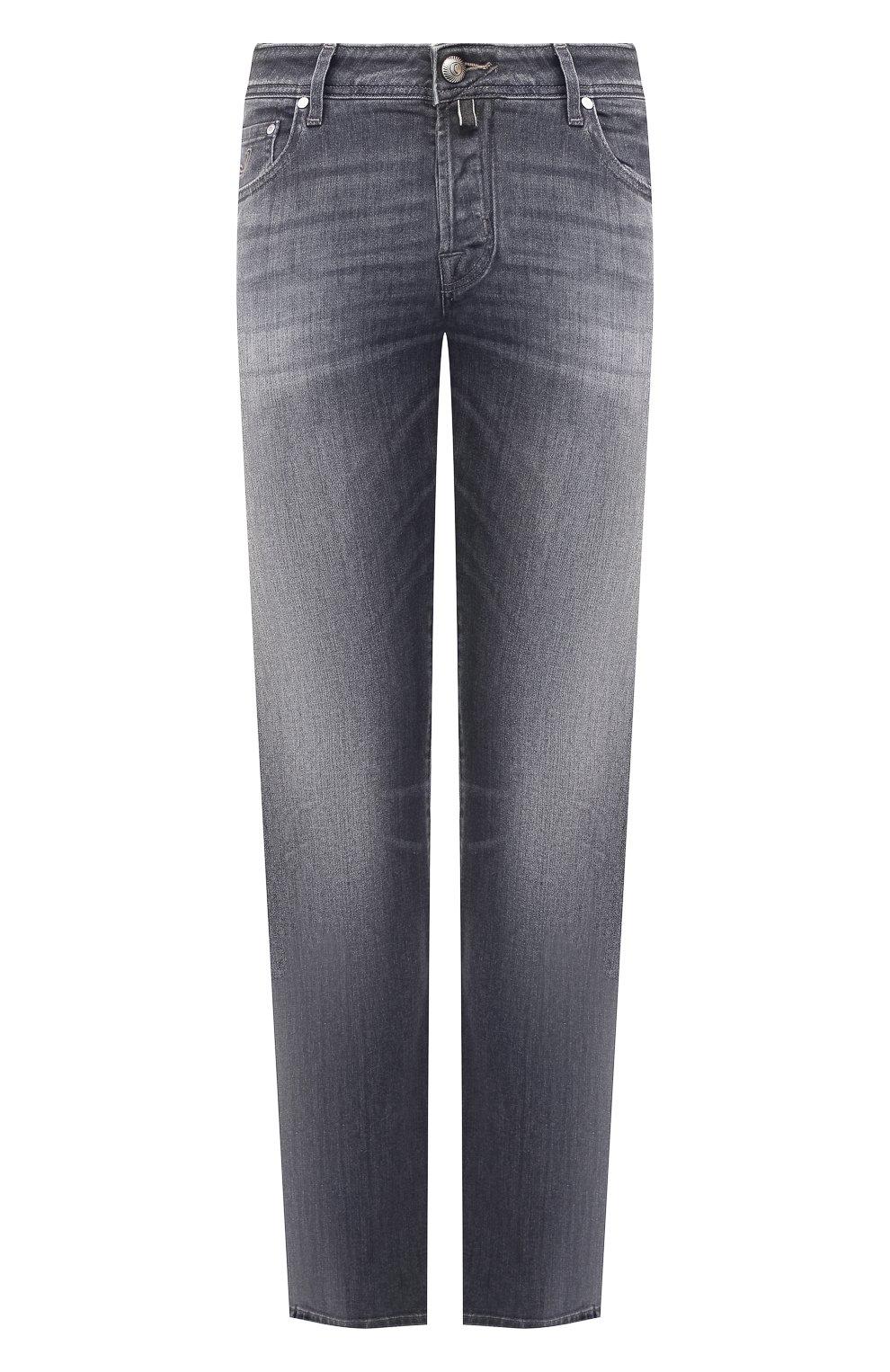 Мужские джинсы JACOB COHEN серого цвета, арт. J620 C0MF 01578-W2/52 | Фото 1