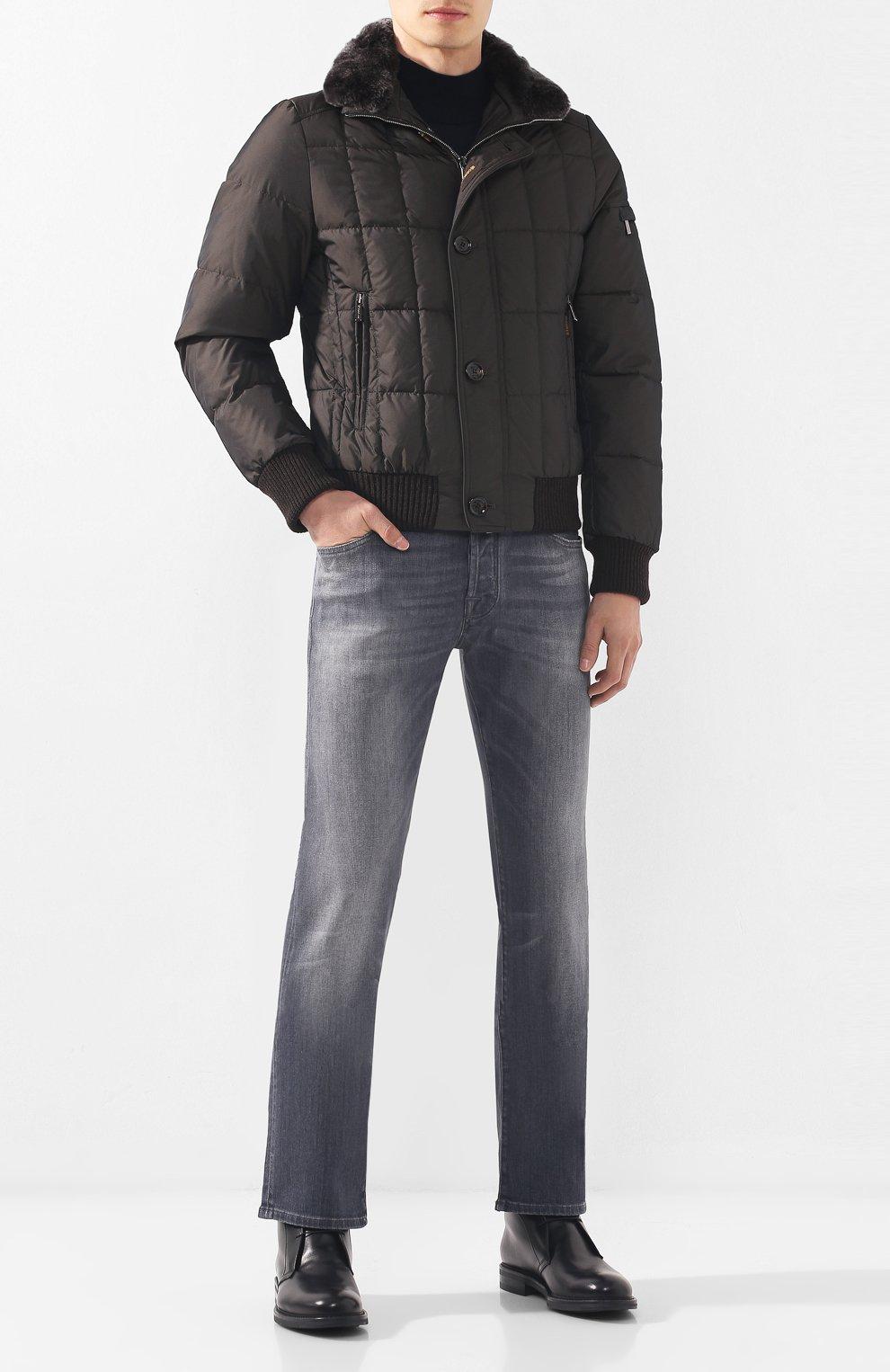 Мужские джинсы JACOB COHEN серого цвета, арт. J620 C0MF 01578-W2/52 | Фото 2