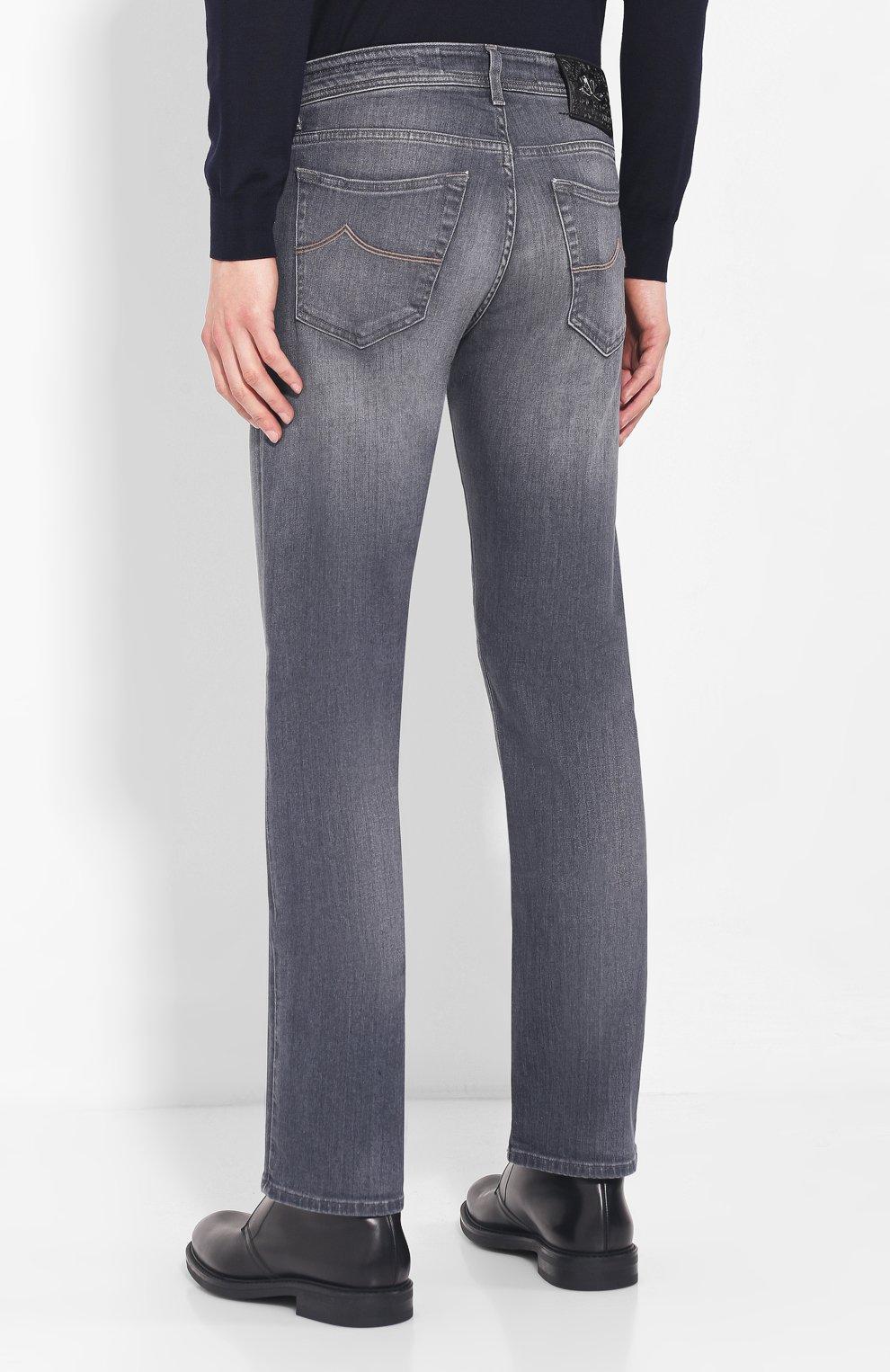 Мужские джинсы JACOB COHEN серого цвета, арт. J620 C0MF 01578-W2/52 | Фото 4