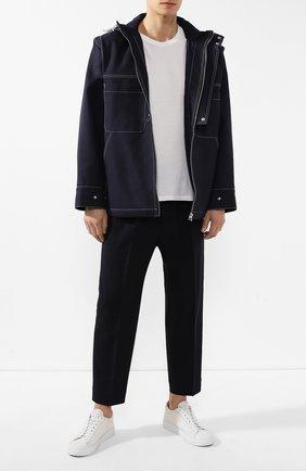 Мужской брюки JIL SANDER темно-синего цвета, арт. JSMP311331-MP441000 | Фото 2
