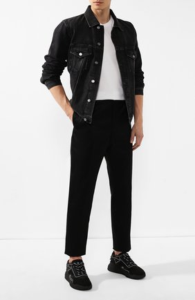Мужской брюки JIL SANDER черного цвета, арт. JSMP310131-MP451000 | Фото 2