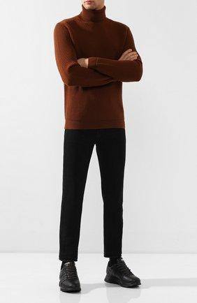 Мужские кожаные кроссовки HIDE&JACK черного цвета, арт. JETLBLKBLK-MTB | Фото 2