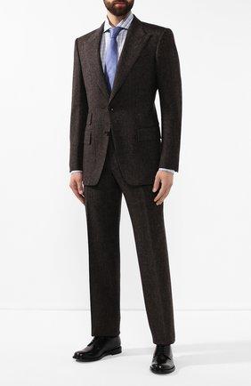 Мужская хлопковая сорочка KITON серого цвета, арт. UCCH0706314 | Фото 2