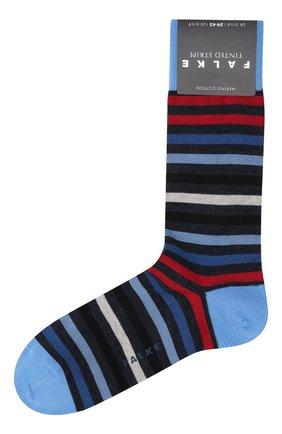 Мужские носки из смеси шерсти и хлопка tinted stripe FALKE разноцветного цвета, арт. 13279 | Фото 1