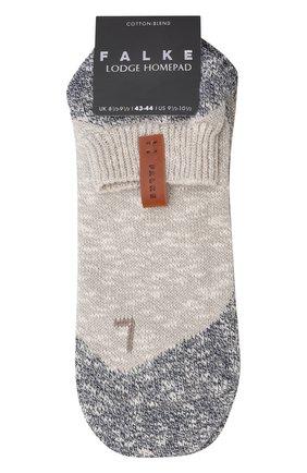 Мужские хлопковые носки lodge homepad FALKE серого цвета, арт. 13361 | Фото 1