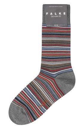 Мужские хлопковые носки microblock FALKE серого цвета, арт. 14041 | Фото 1
