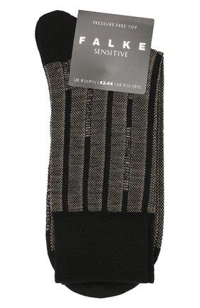 Мужские шерстяные носки sensitive FALKE черного цвета, арт. 14050 | Фото 1