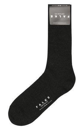 Мужские носки из хлопка и шерсти denim.id FALKE серого цвета, арт. 14491 | Фото 1