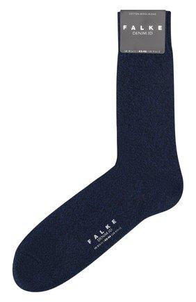 Мужские носки из хлопка и шерсти denim.id FALKE темно-синего цвета, арт. 14491 | Фото 1
