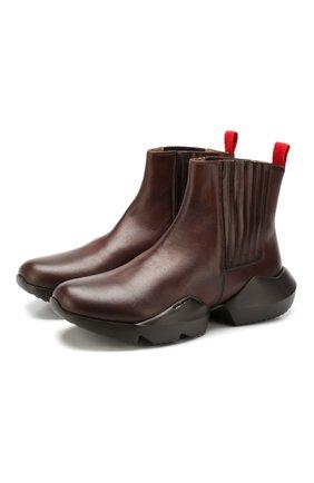 Мужские кожаные челси KITON коричневого цвета, арт. USSEC0N00100 | Фото 1