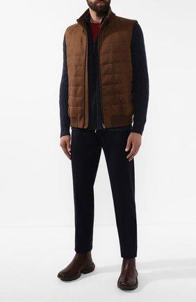 Мужские кожаные челси KITON коричневого цвета, арт. USSEC0N00100 | Фото 2