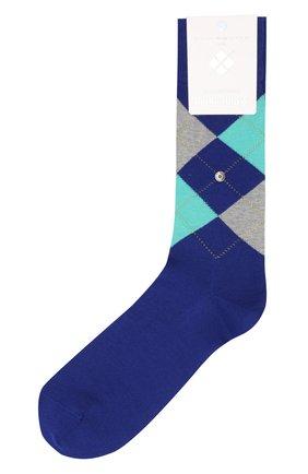 Мужские хлопковые носки manchester BURLINGTON синего цвета, арт. 20182 | Фото 1