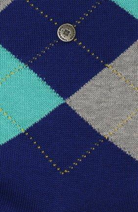 Мужские хлопковые носки manchester BURLINGTON синего цвета, арт. 20182 | Фото 2