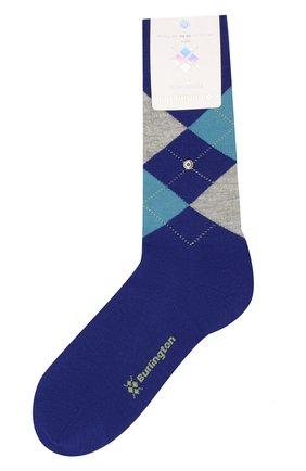 Мужские шерстяные носки BURLINGTON синего цвета, арт. 21182 | Фото 1