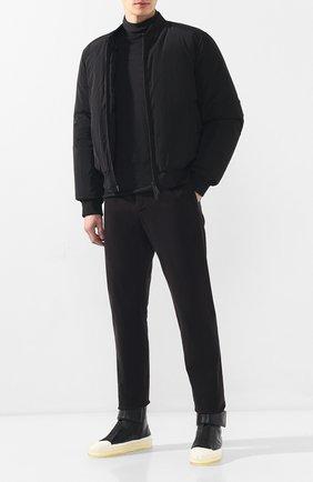 Мужской шерстяная водолазка ISABEL BENENATO серого цвета, арт. UK02F19 | Фото 2