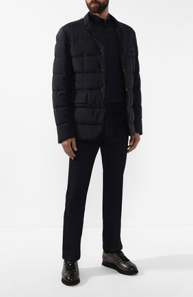 Мужские кожаные кеды DOUCAL'S серого цвета, арт. DU2156WINNPM0212N05 | Фото 2