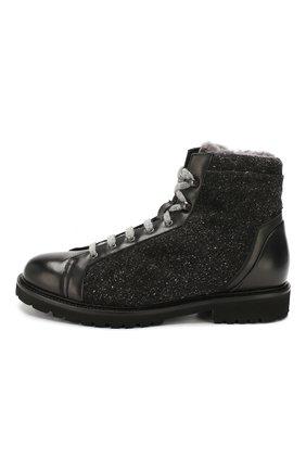 Мужские комбинированные ботинки DOUCAL'S черного цвета, арт. DU2486PHILPM340NN00 | Фото 3