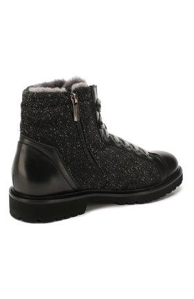 Мужские комбинированные ботинки DOUCAL'S черного цвета, арт. DU2486PHILPM340NN00 | Фото 4