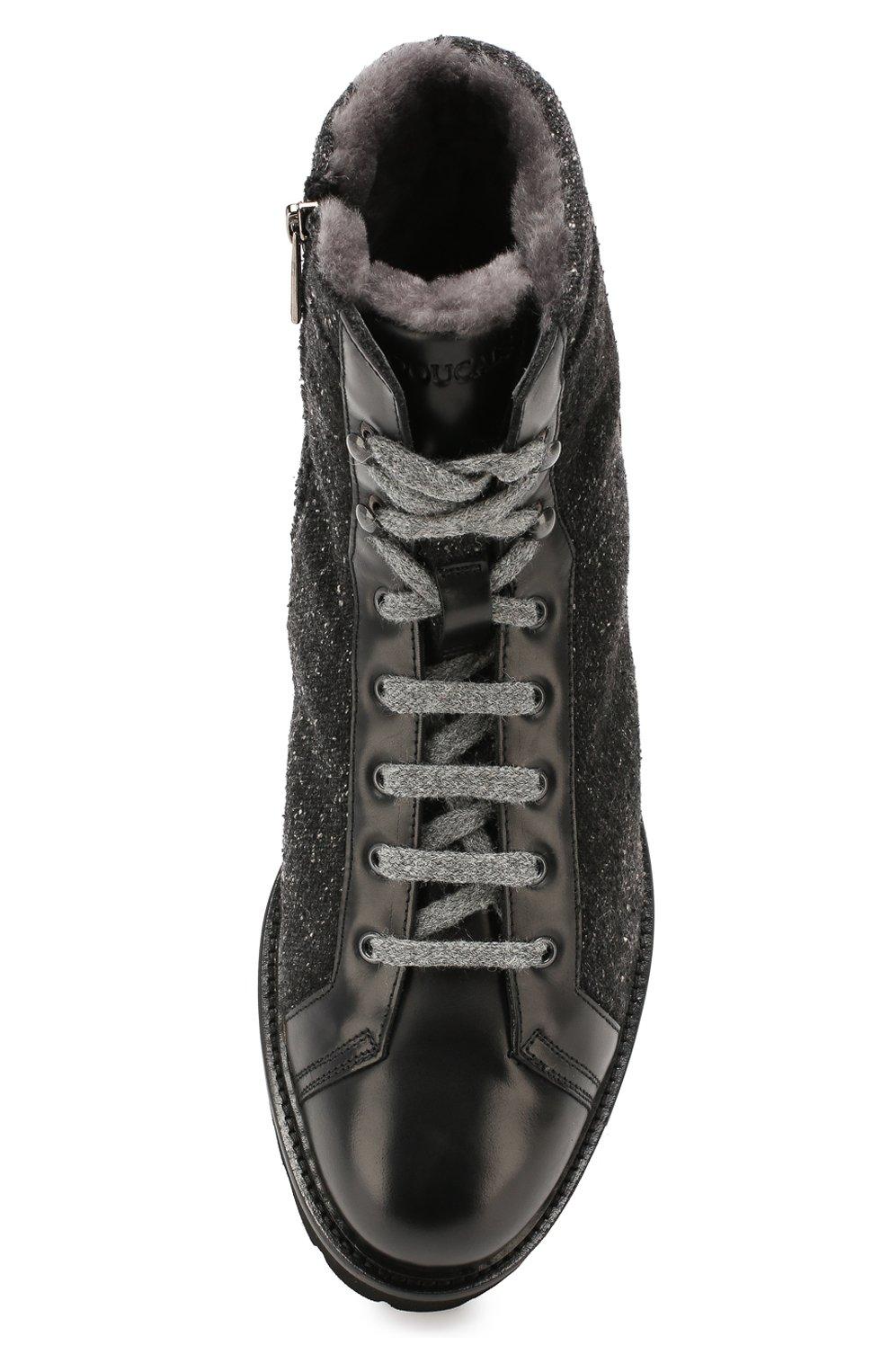 Мужские комбинированные ботинки DOUCAL'S черного цвета, арт. DU2486PHILPM340NN00 | Фото 5