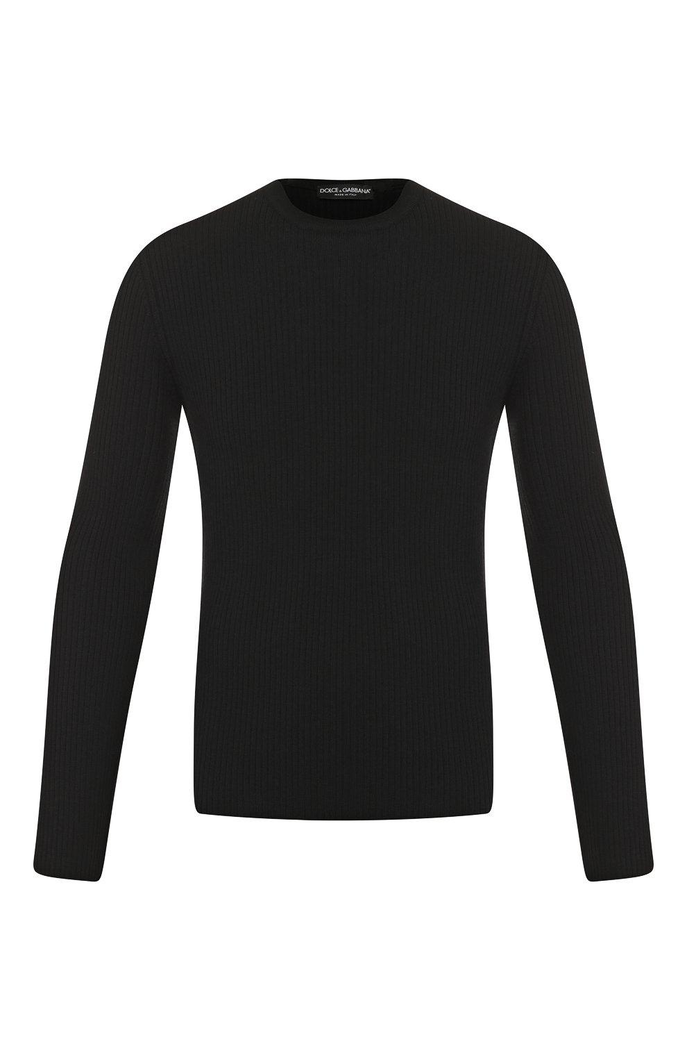 Мужской шерстяной джемпер DOLCE & GABBANA черного цвета, арт. GX579T/JAV0U | Фото 1