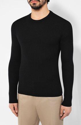 Мужской шерстяной джемпер DOLCE & GABBANA черного цвета, арт. GX579T/JAV0U | Фото 3