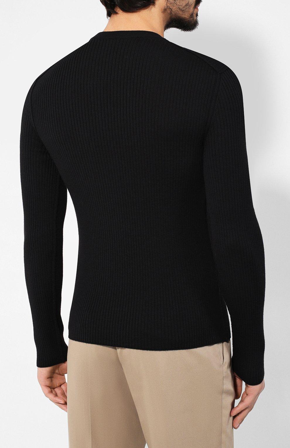 Мужской шерстяной джемпер DOLCE & GABBANA черного цвета, арт. GX579T/JAV0U | Фото 4