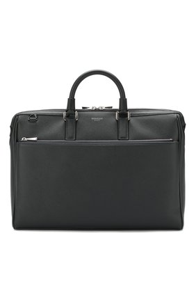 Мужская кожаная сумка для ноутбука SERAPIAN темно-синего цвета, арт. SEV0LMLL6198M38B | Фото 1