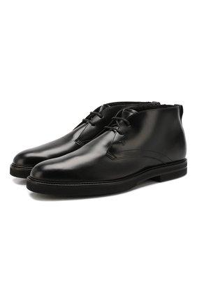 Мужские кожаные ботинки TOD'S черного цвета, арт. XXM53B00D81LYG   Фото 1