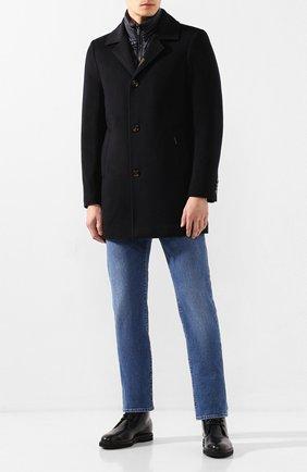 Мужские кожаные ботинки TOD'S черного цвета, арт. XXM53B00D81LYG   Фото 2