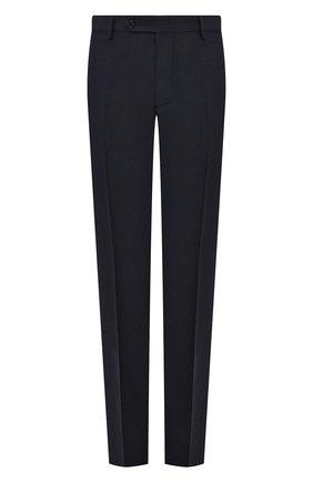 Мужские брюки из шерсти и кашемира ANDREA CAMPAGNA темно-синего цвета, арт. SC/1/FA2064 | Фото 1 (Длина (брюки, джинсы): Стандартные; Материал подклада: Купро; Материал внешний: Шерсть; Случай: Повседневный, Формальный; Стили: Классический)