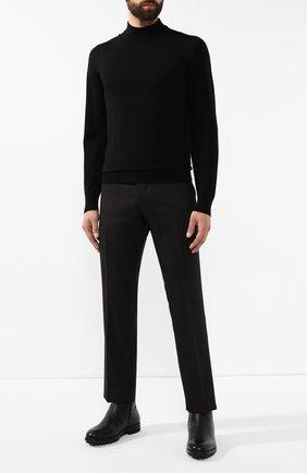 Мужские брюки из шерсти и кашемира ANDREA CAMPAGNA коричневого цвета, арт. SC/1/FA2064 | Фото 2 (Материал внешний: Шерсть; Длина (брюки, джинсы): Стандартные; Материал подклада: Купро; Случай: Повседневный, Формальный; Стили: Классический)