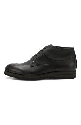 Мужские кожаные ботинки ZILLI черного цвета, арт. MDS-B046/002 | Фото 3