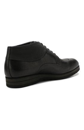 Мужские кожаные ботинки ZILLI черного цвета, арт. MDS-B046/002 | Фото 4