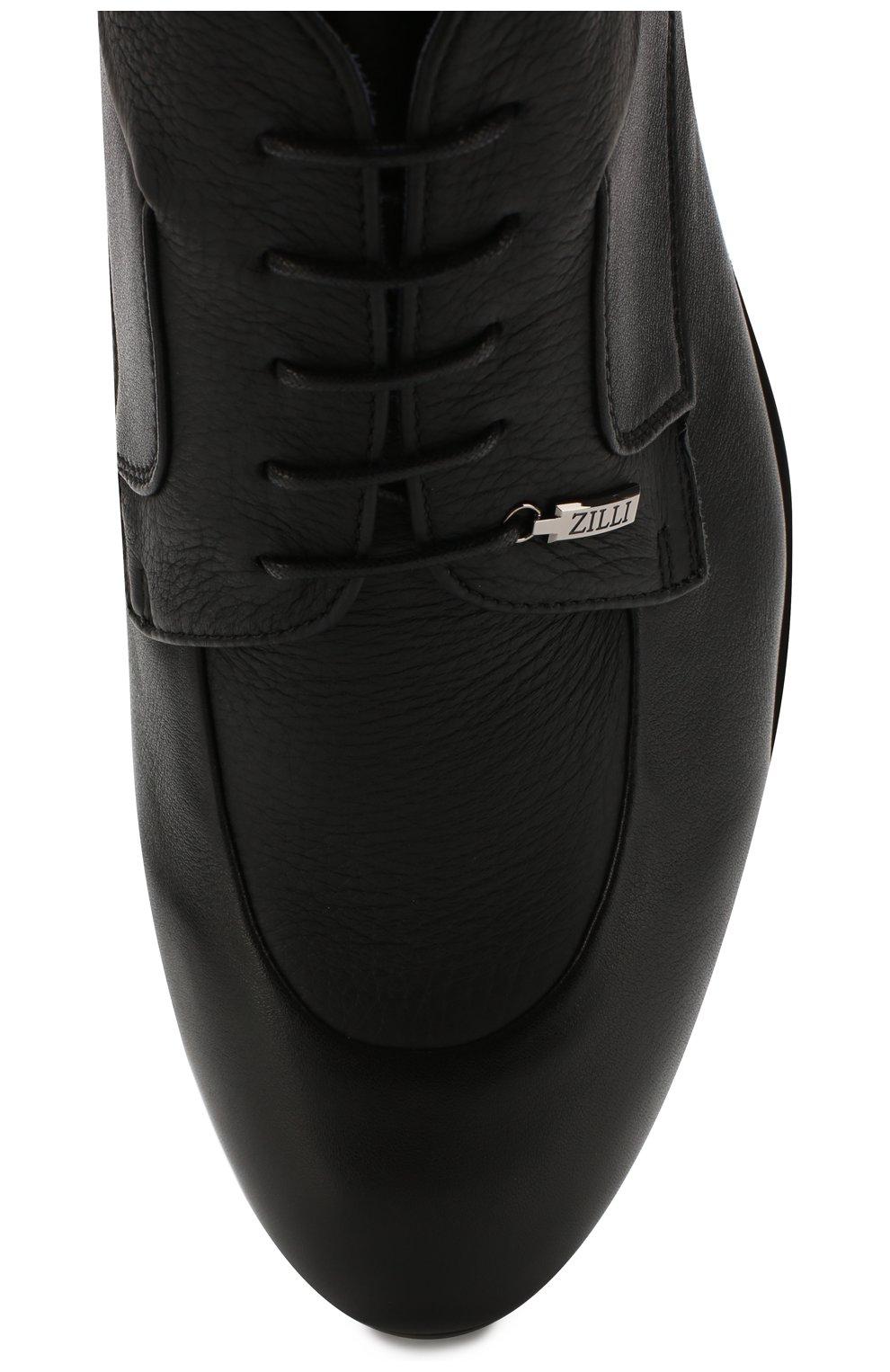 Мужские кожаные ботинки ZILLI черного цвета, арт. MDS-B046/002 | Фото 5