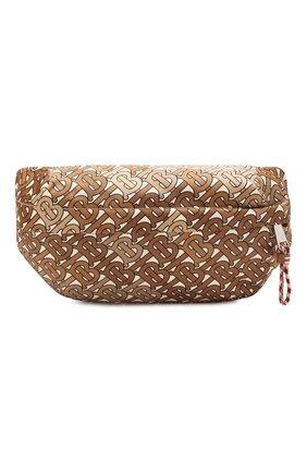 Мужская текстильная поясная сумка BURBERRY коричневого цвета, арт. 8014459 | Фото 1