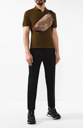 Мужская текстильная поясная сумка BURBERRY коричневого цвета, арт. 8014459 | Фото 2