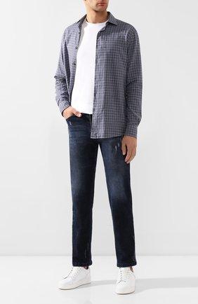 Мужские джинсы KITON синего цвета, арт. UPNJS1/J03S85 | Фото 2