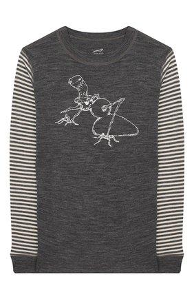 Детская шерстяной лонгслив NORVEG бежевого цвета, арт. 4SJ2HLRU-023 | Фото 1