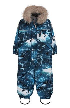Детского комбинезон polaris fur MOLO синего цвета, арт. 5W19N202 | Фото 1