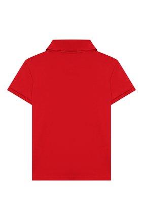 Детское хлопковое поло POLO RALPH LAUREN красного цвета, арт. 312759101 | Фото 2