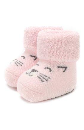 Детские хлопковые носки FALKE светло-розового цвета, арт. 12246 | Фото 1