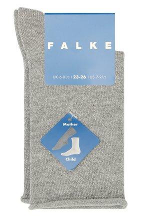 Детские хлопковые носки FALKE серого цвета, арт. 12174 | Фото 1