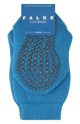 Детские носки из хлопка и шерсти FALKE синего цвета, арт. 10500 | Фото 1