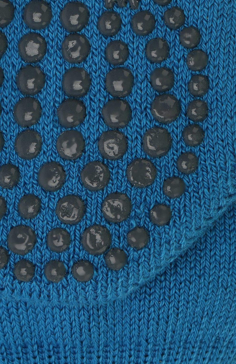 Детские носки из хлопка и шерсти FALKE синего цвета, арт. 10500   Фото 2