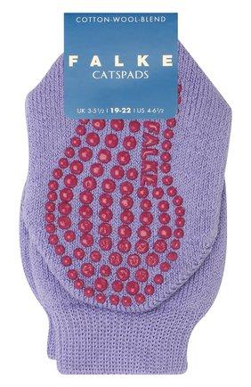 Детские носки из хлопка и шерсти FALKE фиолетового цвета, арт. 10500 | Фото 1